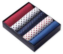 Geschenkbox Einstecktücher in Rot, Weiß und Blau