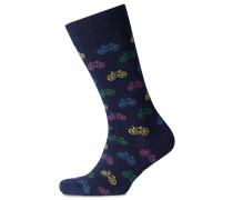 Socken mit Fahrradmotiv in Bunt