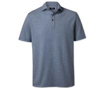 Strukturiertes Polohemd in Blau und Weiß