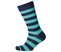 Socken mit breiten Streifen in Mintgrün