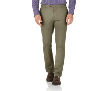 Slim Fit Stretch chino Hose in Khaki