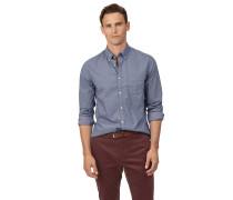 Vorgewaschenes Extra Slim Fit Popeline-Hemd