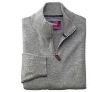 Kaschmir Pullover mit Reißverschlusskragen