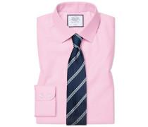 Classic Fit Twill-Hemd in Rosa Umschlagmanschette