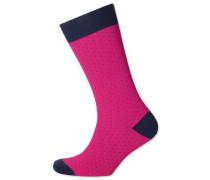 Socken mit feinen Strichen in Rosa und Marineblau