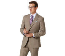 Businessanzugsakko Classic Fit Twill in Rehbraun
