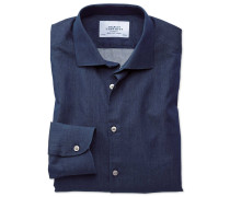 Slim Fit Business-Casual Hemd in Indigo-