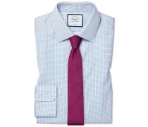 Extra Slim Fit Twill-Hemd in Himmelblau