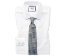 Bügelfreies Classic Fit Hemd in Weiß