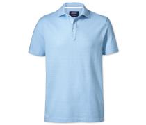 Polohemd in Himmelblau und Weiß