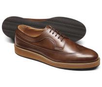 Leichte Derby-Schuhe aus in Gelbbraun