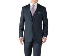 Slim Fit Businessanzug Sakko aus Fil-à-Fil in Blau