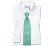 Classic Fit Popeline-Hemd in Weiß