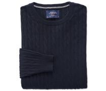 Baumwolle / Kaschmir Zopfmuster Pullover