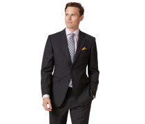 Slim Fit Businessanzugsakko aus Twill