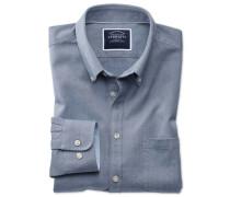 Classic Fit Oxfordhemd in Indigoblau