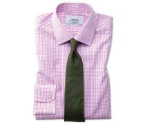 Bügelfreies Classic Fit Hemd in Rosa