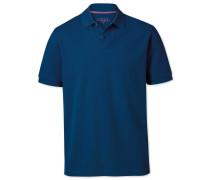 Classic Fit Piqué-Polohemd in mittelblau