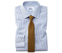 Extra Slim Fit Hemd in MarineBlau mit Streifen