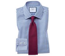 Bügelfreies Slim Fit Hemd in Mittelblau
