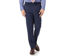 Slim Fit Anzughose aus Stepweave-Gewebe