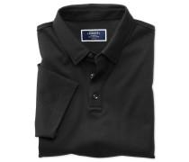 Jersey-Polohemd in Schwarz