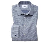 Extra Slim Fit Hemd in MarineBlau