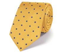 Klassische Seidenkrawatte in Gold und Blau