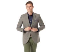 Sakko Slim Fit britische Wolle/Kaschmir in Silber