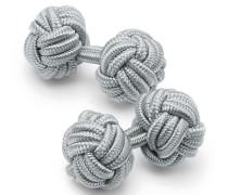 Seidenknoten-Manschettenknöpfe in Grau