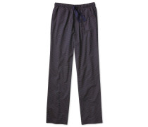 Navy and red stripe lightweight pyjama trousers