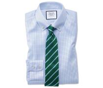 Extra Slim Fit Twill-Hemd mit Button-down Kragen