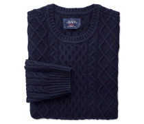 Lammwolle Zopfmuster Pullover