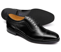 Black Oxford brogue toe cap shoe