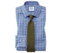 Classic Fit Hemd in Blau und Grün
