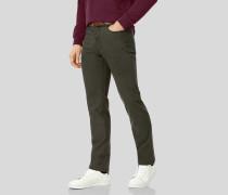 5-Pocket-Hose aus Stretch-Baumwolle - Olivgrün