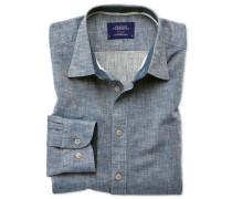 Slim Fit Schlupfhemd in Jeansblau