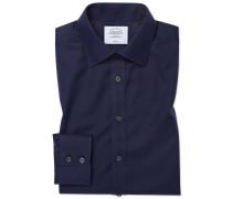 Classic Fit Twill-Hemd in MarineBlau
