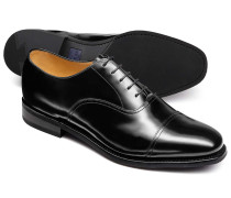 Black Oxford toe cap shoe