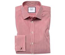 Bügelfreies Slim Fit Hemd in Rot