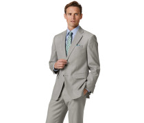 Businessanzugsakko Classic Fit Twill in Hellgrau
