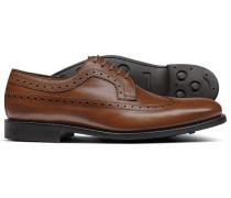 Goodyear rahmengenähte Budapester Derby-Leder Schuhe