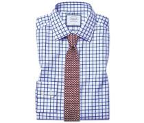 Extra Slim Fit Twill-Hemd in Königsblau