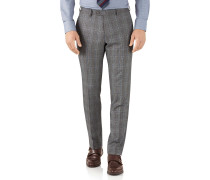 Slim Fit Businessanzughose aus Flanell in Silber