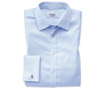 Extra Slim Fit Hemd in Himmelblau mit Hahnentritt