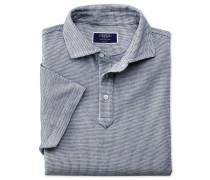 Polohemd in Weiß und Marineblau