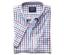 Bügelfreies Slim Fit Kurzarmhemd aus Popeline