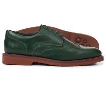 Extraleichte Derby-Schuhe mit Flügelkappen in Grün