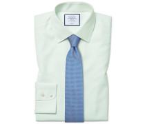 Classic Fit Popeline-Hemd in Grün