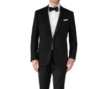 Slim Fit Smokingsakko mit Spitzrevers in Schwarz
